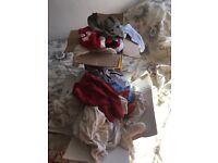 2 boxes of newborn/ first size boys baby clothes