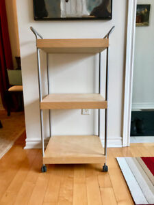 Ikea Birch Laminate Rolling Cart