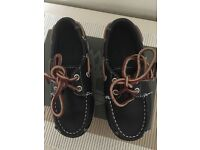 Boys Navy blue boat shoes