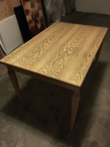 expanding dining table with folding top