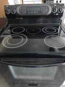 Kitchen Aid Glass Black Stove Convection/Self-cleaning