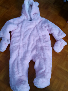 6-12 month girls snowsuit