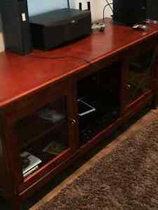 Wood TV Stand/Cabinet Campbell River Comox Valley Area image 1