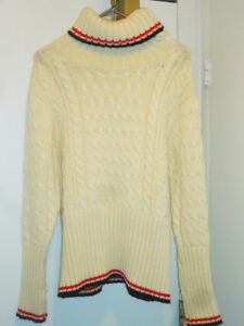 Thom Browne Cable Knit Wool Sweater, Size M New!