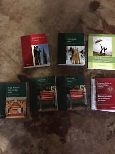 LAW CLERK TEXTBOOKS FOR SALE London Ontario image 1