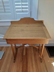 Antique flip top school desk