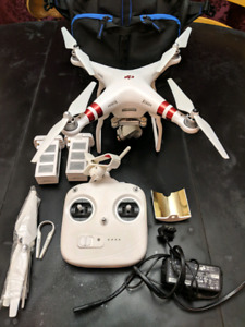 Drone, DJI Phantom 3, Bag and Accessories