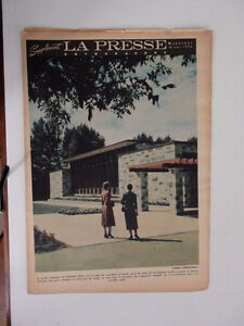 ANCIEN JOURNAL LA PRESSE 1956 JARDIN BOTANIQUE DODGE