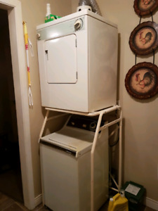 Apartment size washer and dryer with stand. $150 OBO