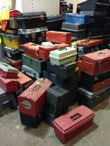 TOOL BOXES $8+up each, over 30 boxes, & we have other TOOLS!