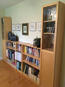 Office furniture: Ikea desk and shelf units, paid over $1200
