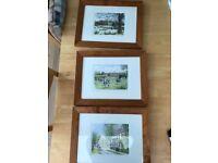 3 Framed limited edition prints of Blickling Norfolk by Robert Gay