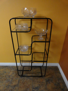 Metal Display Stand with Glass shelves