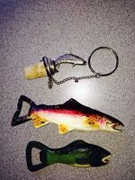 Collectable fish wine and bottle openers