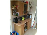 Kitchen cabinets and worktop
