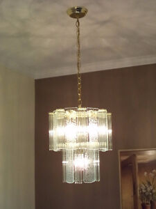 Brass/Glass Chandeliers