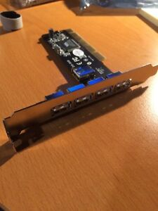 5-port USB 2.0 PCI host card