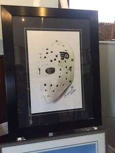 *One of a Kind* Bernie Parent Signed Goalie Mask Picture