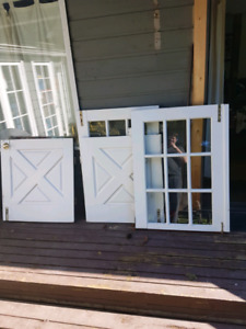 old really rough shape doors