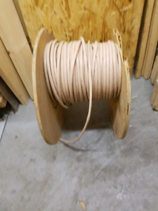 Big roll of electrical communication wire.