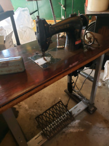 Old fashioned shop  sewing machine