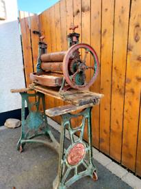 Vintage Laundry Mangle Wringer