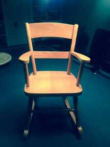 Solid wood mini rocking chair