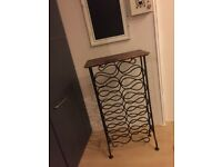STUNNING WROUGHT IRON & WOOD WINE RACK ~ SOLID PIECE ~ SUPERB QUALITY ~ BD11