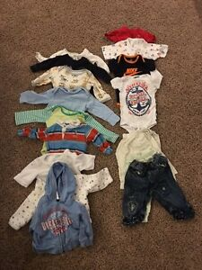 Name brand set of 3-6 month boy clothes...$10 for all