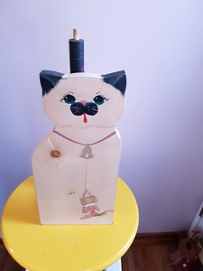 Cat paper towel  holder or toilet paper