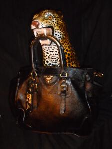 PRADA  BLACK LTD. EDI. COUTURE SHOULDER BAG  $4,000+ RETAIL