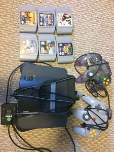 N64 grey with games and controllers
