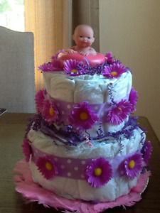 Diaper cakes and Gift Baskets
