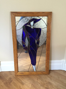 Art Deco Stained Glass Mirror