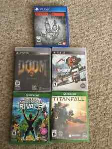 Doom 3, Skate 3 - for PS3 - Exc. condition