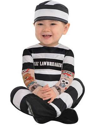 Toddler Baby Lil Law Jail Breaker Prisoner Fancy Dress Costume Convict Inmate