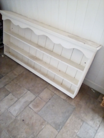 Shabby chic country wall unit .Solid Pine .