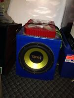 Amp and car stereo for sale