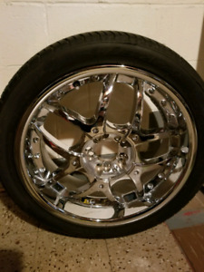 "18"" chrome 5 bolt universal rims for sale."