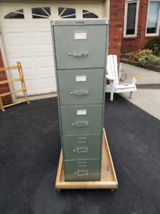5-Drawer Deep Metal Filing Cabinet