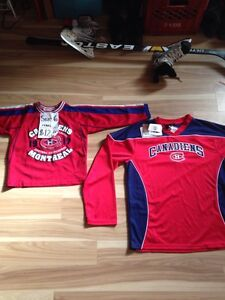 CANADIENS jerseys -size 6 child, size 18 or small Men's ( new)