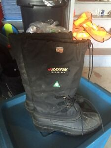 Baffin Insulated CSA Steel Toed Winter Boots Sz Mens 6/ Womens 8