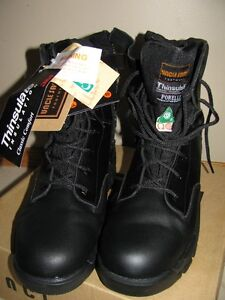 Brand new 'Uncle Sam' CSA safety boots with side zipper