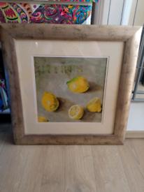 Lemon picture frame £2