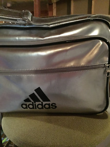 Adidas Like New Silver Workout or Overnight Bag