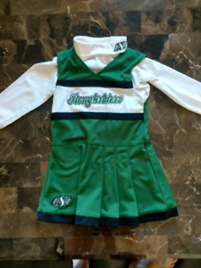 4T Roughriders 2-piece cheerleader outfit
