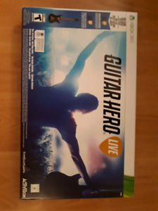 Unopened Guitar Hero Live game and guitar for XBox 360