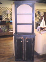 Stepback Tombstone 2pc Rustic Hutch 50% OFF INVENTORY SALE