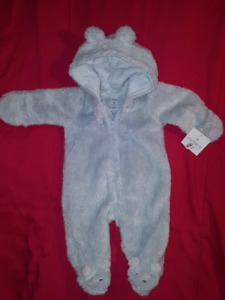 Carter's 1pc Baby Boy Suit Size 3mts,NEW,Light Wt  For CarSeat