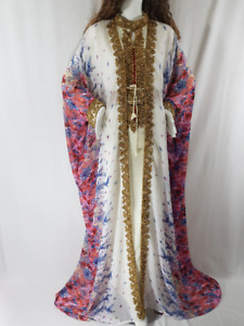 FLORAL PRINT WEDDING DRESS,KAFTAN,MOROCCAN CAFTAN,GOWN
